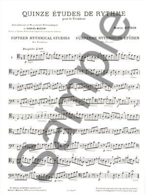 Marcel Bitsch: 15 Etudes de Rythme: Trombone