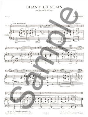 Eugène Bozza: Chant Lointain: French Horn