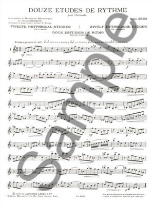 Bitsch: 12 Etudes De Rythme: Clarinet