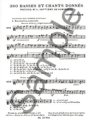 Henri Challan: 380 Basses et chants donnés - Volume 3: Books on Music