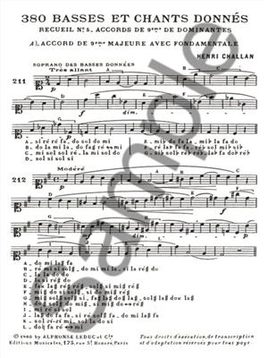 Henri Challan: Henri Challan: 380 Figured Bass Exercises 5B: Vocal