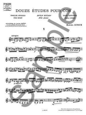 Bitsch: Etudes(12): Horn