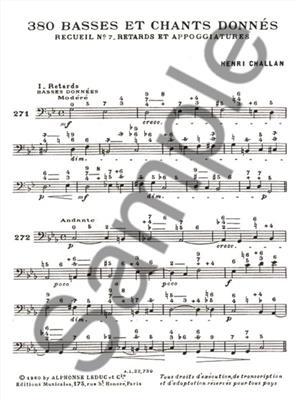Henri Challan: 380 Figured Bass Exercises (7a): Books on Music