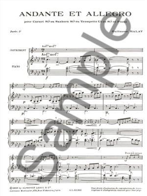 Guillaume Balay: Andante et Allegro : Cornet
