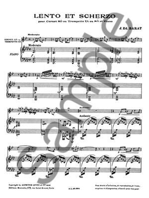 Jacques Barat: Lento Et Scherzo: Trumpet, Cornet or Flugelhorn
