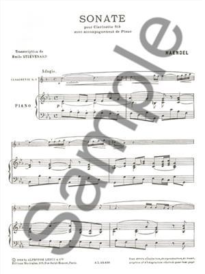 Georg Friedrich Händel: Sonate En Do Mineur: Clarinet