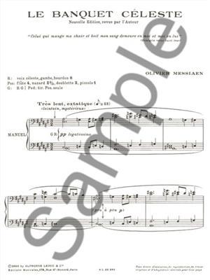 Olivier Messiaen: Banquet Celeste: Organ