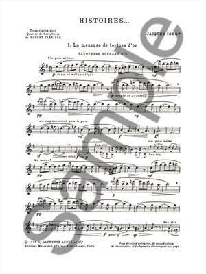 Jacques Ibert: Histoires - 3 Pièces: Saxophone Ensemble