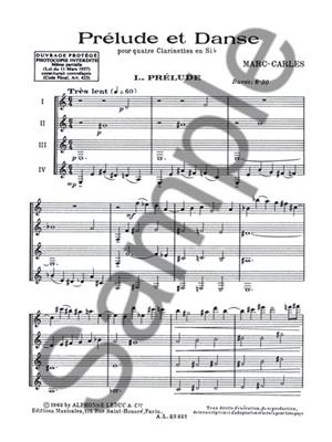 Marc Carles: Marc Carles: Prelude et Danse: Clarinet Ensemble