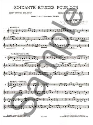 Thevet: 60 Etudes - Vol. 1: Horn
