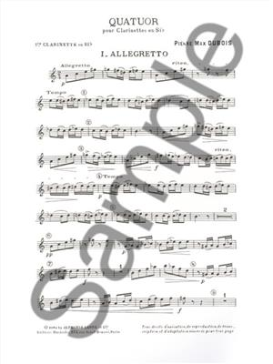 Dubois: Quartuor: Clarinet Ensemble
