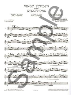 Jacques Delécluse: 20 Etudes: Xylophone