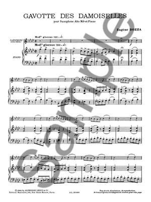 Eugène Bozza: Gavotte Des Damoiselles: Saxophone