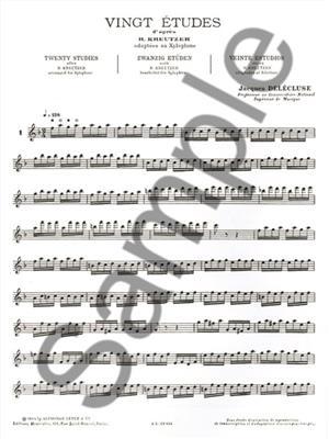 Jacques Delécluse: 20 Etudes d'après Kreutzer adapt. pour Xylophone: Xylophone