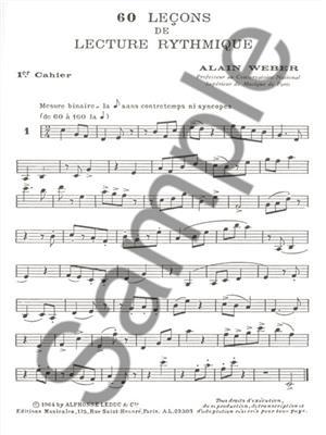 Alain Weber: 60 Theoretical Rhythm Lessons 1: Books on Music