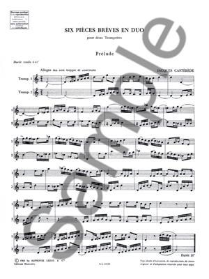 Jacques Castérède: 6 Pieces Breves En Duo: Trumpet Duet