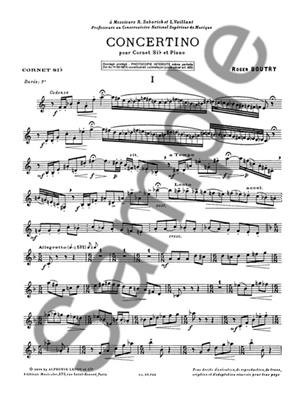 Roger Boutry: Concertino: Trumpet, Cornet or Flugelhorn