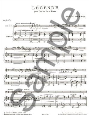 Robert Planel: Legende Cor En Fa Et Piano: French Horn