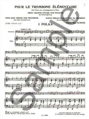 Pierre-Max Dubois: Pour le Trombone élémentaire: Trombone