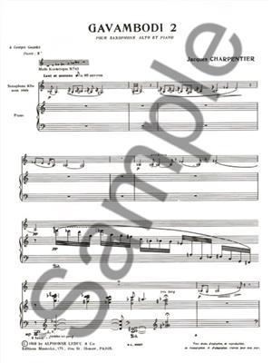 J. Charpentier: Gavambodi 2: Saxophone