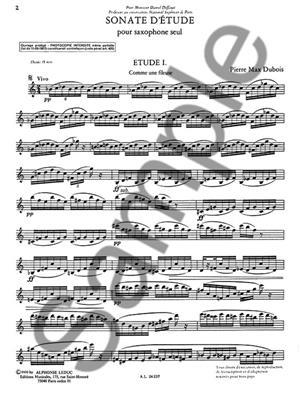 Pierre-Max Dubois: Sonate D'Etude: Saxophone