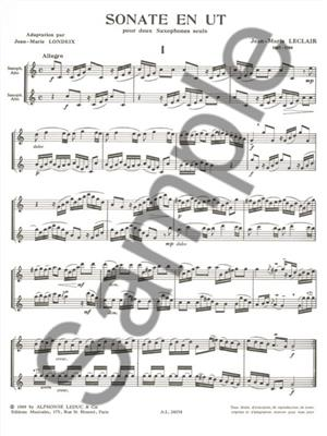 Jean-Marie Leclair: Sonata In C: Saxophone