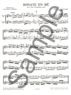 Leclair: Sonate En Re: Saxophone