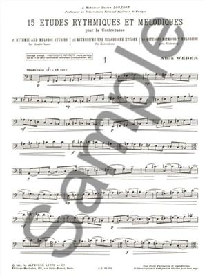 Alain Weber: 15 Rhythmic And Melodic Studies: Double Bass