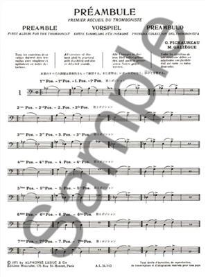 Georges Pfeiffer: Préambule: Trombone