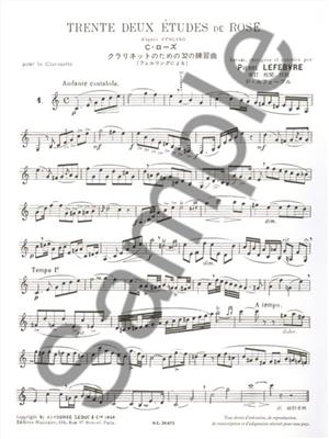 Cyrille Rose: 32 studies (Clarinet): Clarinet