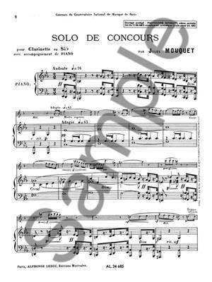 Jules Mouquet: Solo de Concours: Clarinet