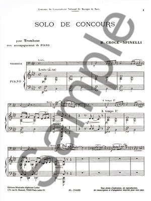 Croce-Spinelli: Solo De Concours: Trombone
