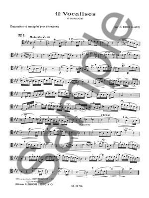 Henri Couillaud: Etudes de Style d'apres Bordogni Vol.1: Trombone