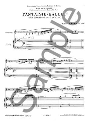 Jules Mazellier: Fantaisie-Ballet: Clarinet
