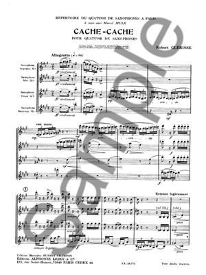 Robert Clerisse: Cache-Cache: Saxophone Ensemble