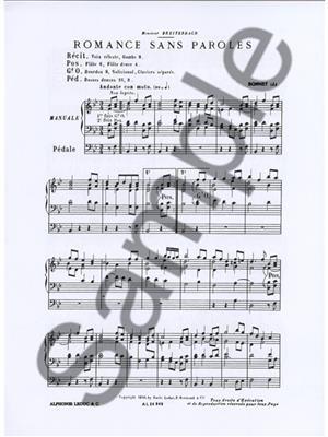 Joseph Bonnet: Romance Sans Paroles Op.7 No.8: Organ