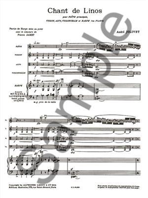 André Jolivet: Chant de Linos: Vocal