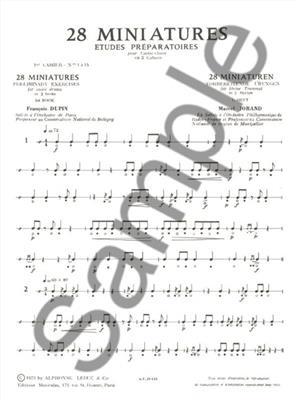 François Dupin: 28 Miniatures Études Préparatoires for Snare Drum: Snare Drum
