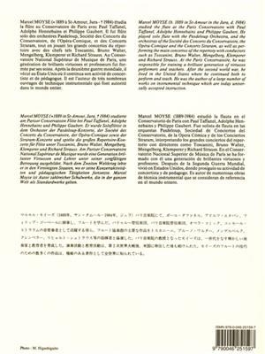 Marcel Moyse: De la Sonorité / Version Japonaise: Flute
