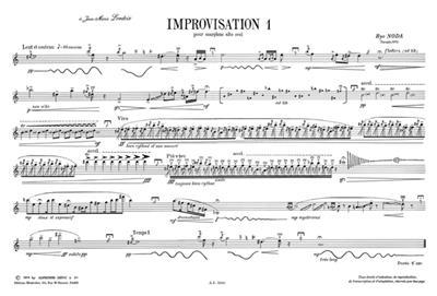 Ryo Noda: Improvisation 1: Saxophone
