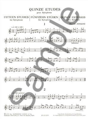 Jorand: 15 Etudes: Xylophone