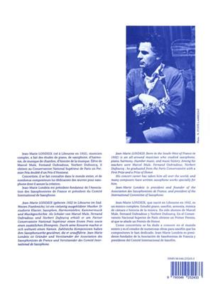 Jean-Marie Londeix: Tableaux aquitains No.1 - Air de Margared: Saxophone