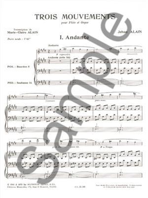 Alain: 3 Mouvements: Flute