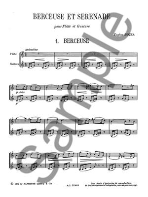 Eugène Bozza: Berceuse Et Sérénade For Flute And Guitar: Flute