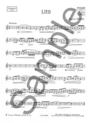 Eugène Bozza: Lied: Trumpet