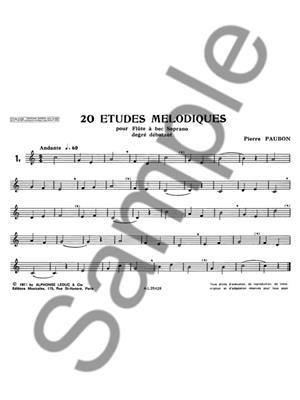 Pierre Paubon: 20 Etudes melodiques: Recorder