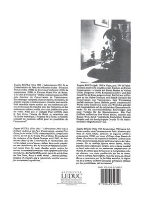 Eugène Bozza: Contrastes 2: Mixed Duet