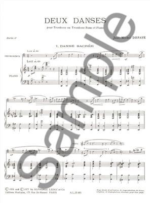 Jean Michel Defaye: Dances (2): Trombone