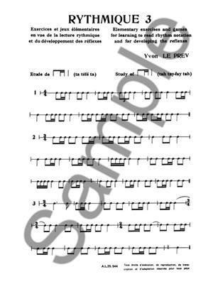 Yvon Le Prev: Yvon Le Prev: Rythmique Vol.3: Books on Music