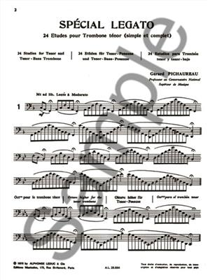 Gérard Pichaureau: Spécial Legato - 24 Etudes: Trombone